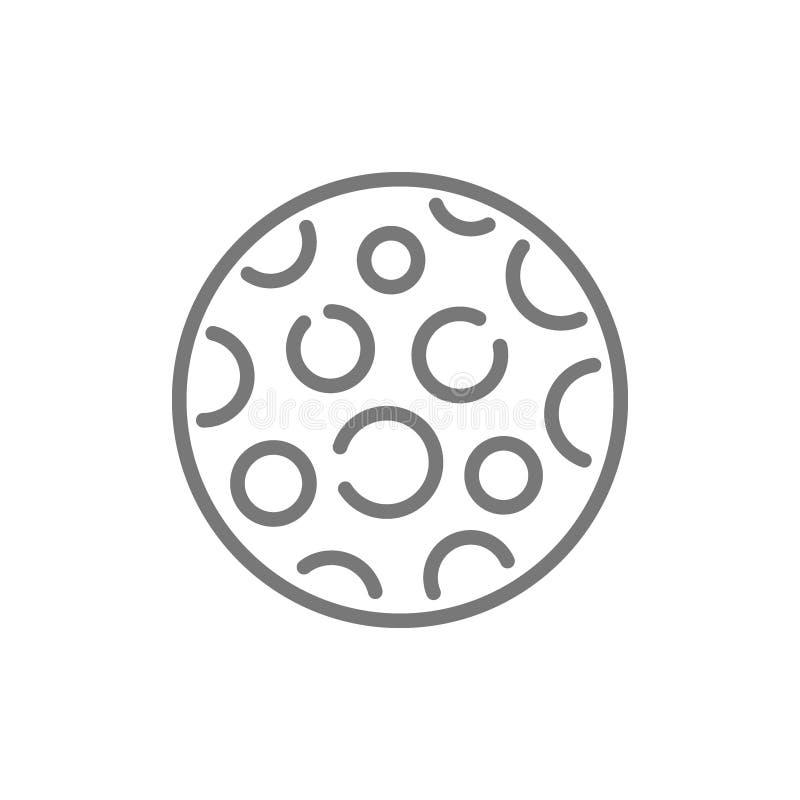 Moon line icon. royalty free illustration