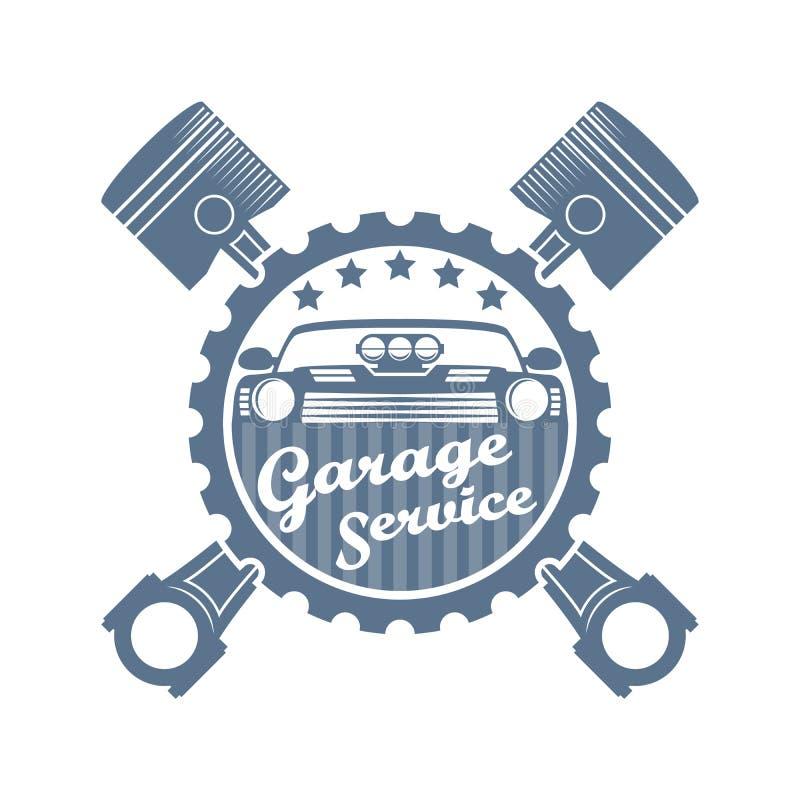 Vector motor repair logo stock image