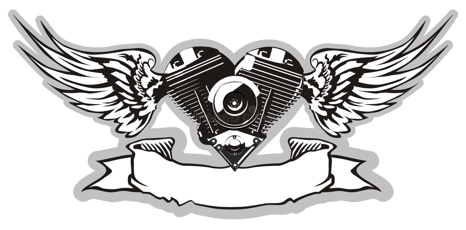Download Vector Motorheart 2 stock vector. Image of gearshift, insignia - 9103899