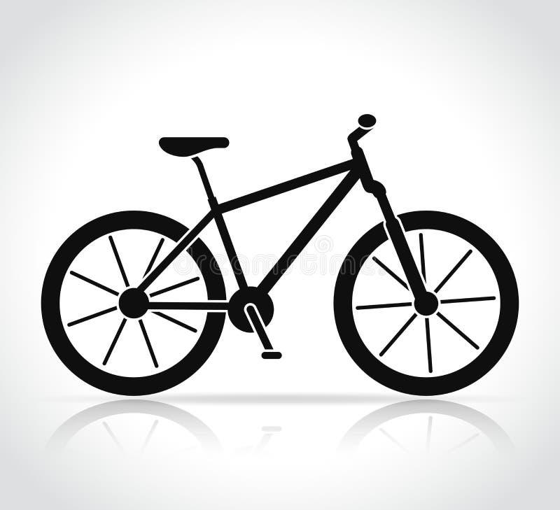 Vector mountain bike icon royalty free illustration