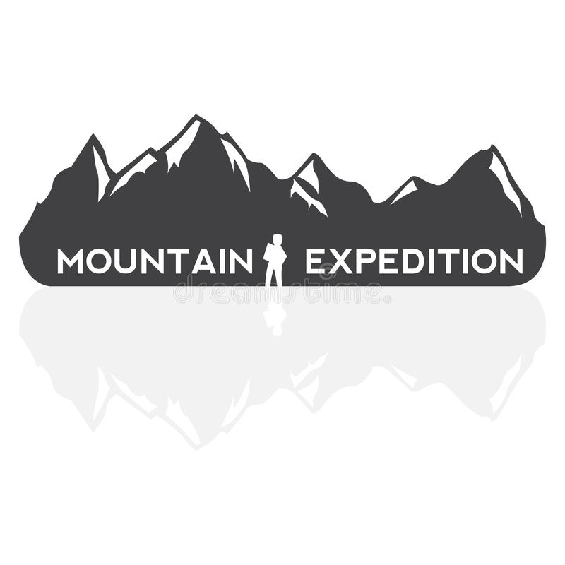 Free Vector Mountains Emblem. Stock Photo - 70992720