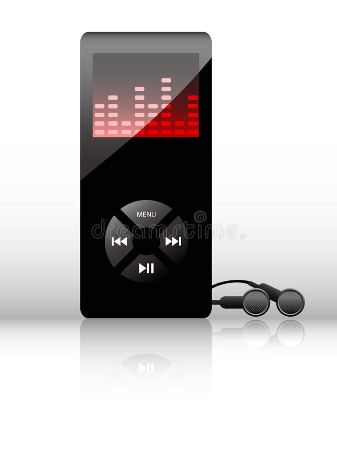 Download Vector mp3 player stock vector. Image of illustration - 13110898