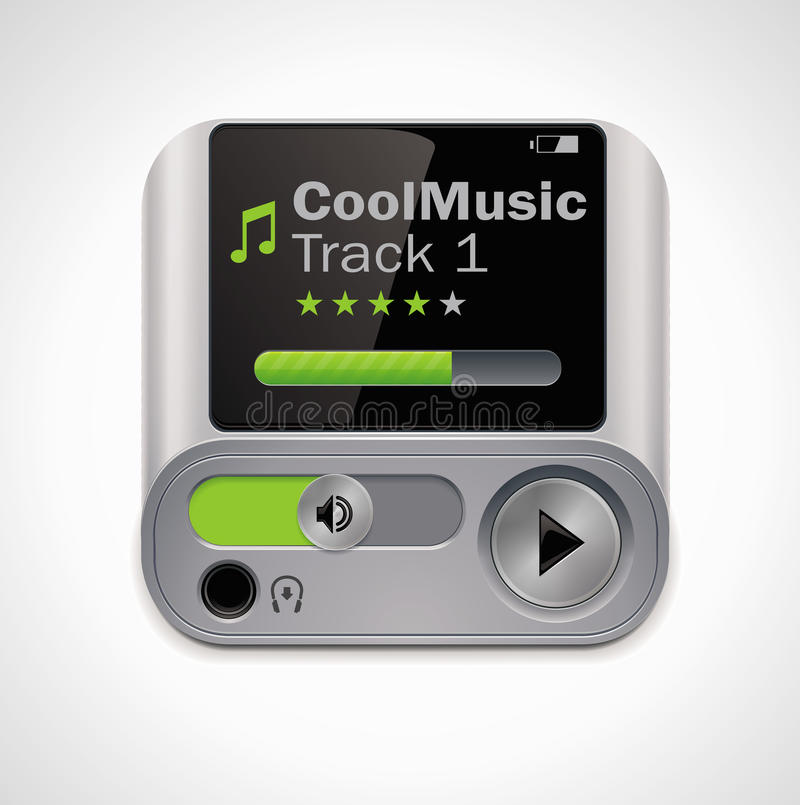 Vector mp3 player XXL icon stock illustration