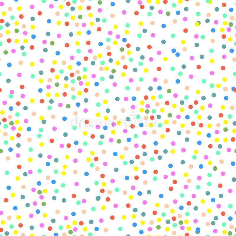 Vector multi-colored punten stock illustratie