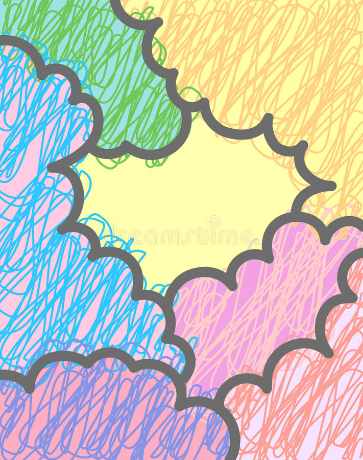 Vector Multicolor Clouds Background Stock Photo