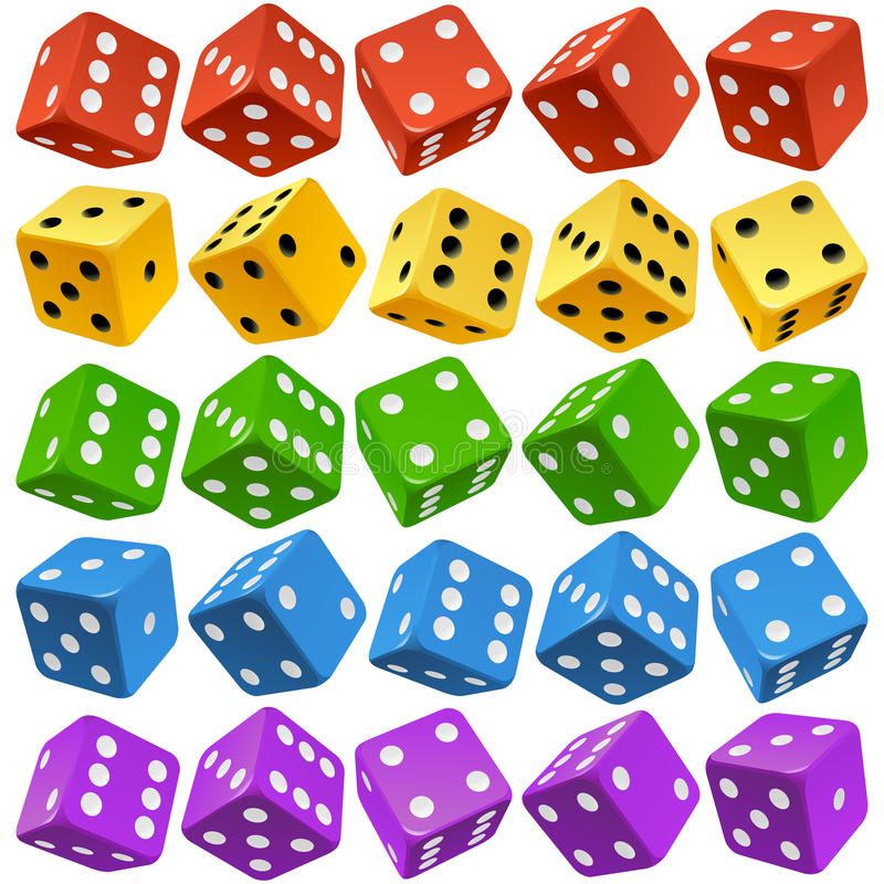 Free Vector Multicolor Dice Set Royalty Free Stock Image - 90898726