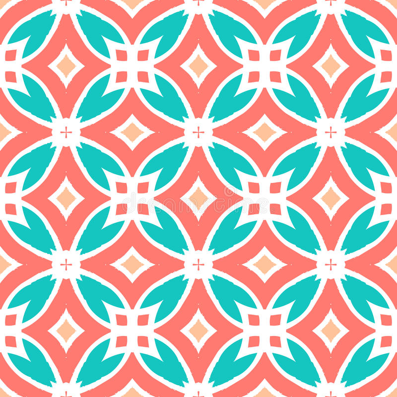 Vector multicolor ethnic pattern royalty free illustration
