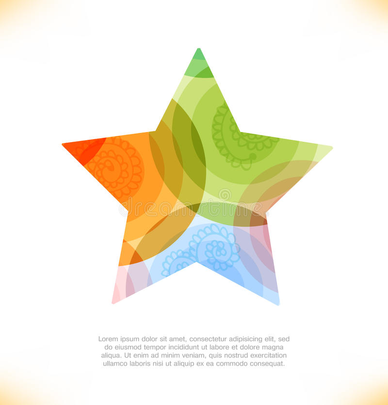 Vector multicolor star. Beauty element for gifts, cards, invitations vector illustration