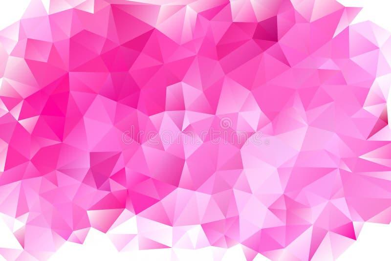 Vector multicolored abstracte achtergrond van effect geometrische driehoeken royalty-vrije illustratie