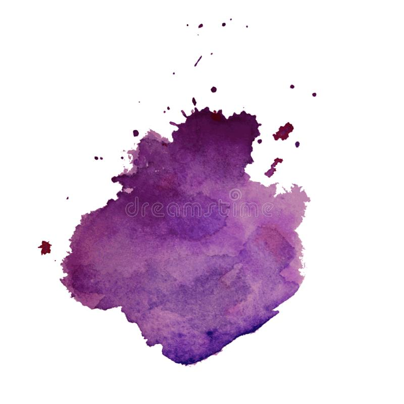 Vector multicolored watercolor splash texture blots background isolated. Grunge hand drawn blob, spot and droplets. Watercolour sp. Latter stain effects. Spring vector illustration