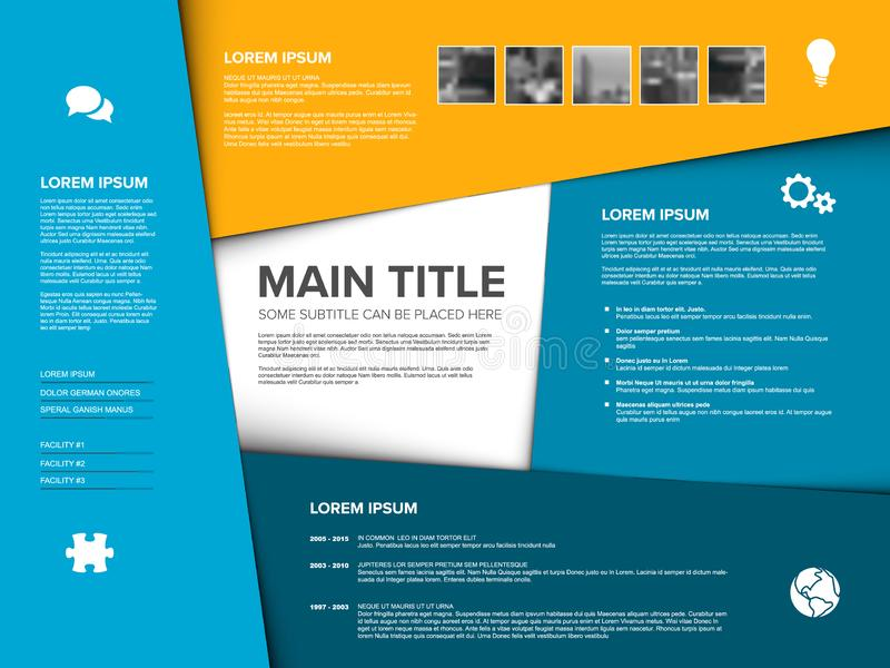 Vector Multipurpose Infographic template royalty free illustration