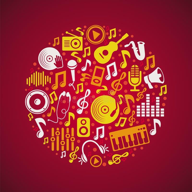 Vector music concept vector illustration