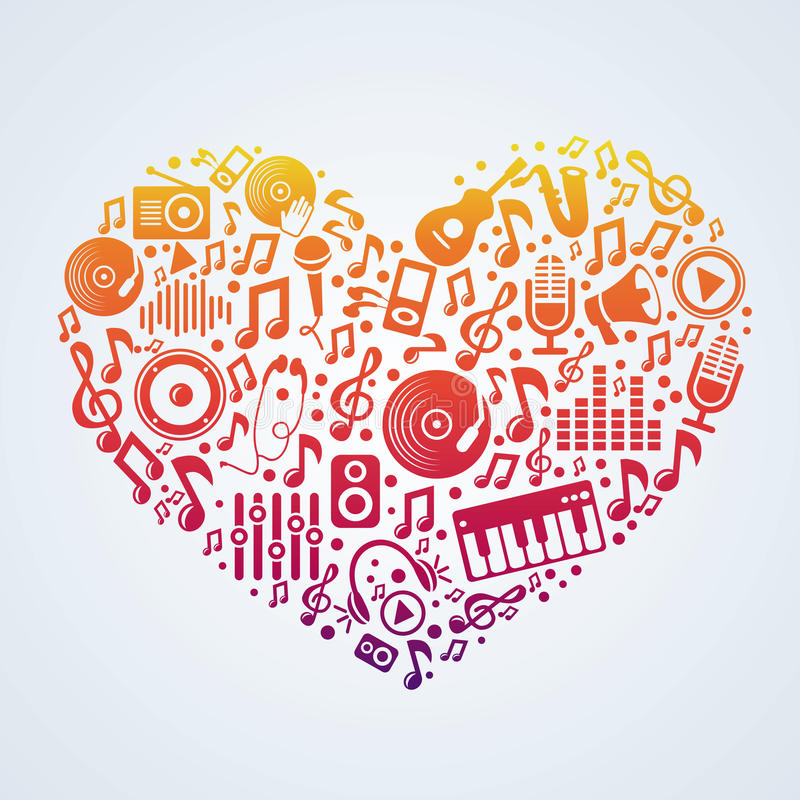 Vector music concept royalty free illustration