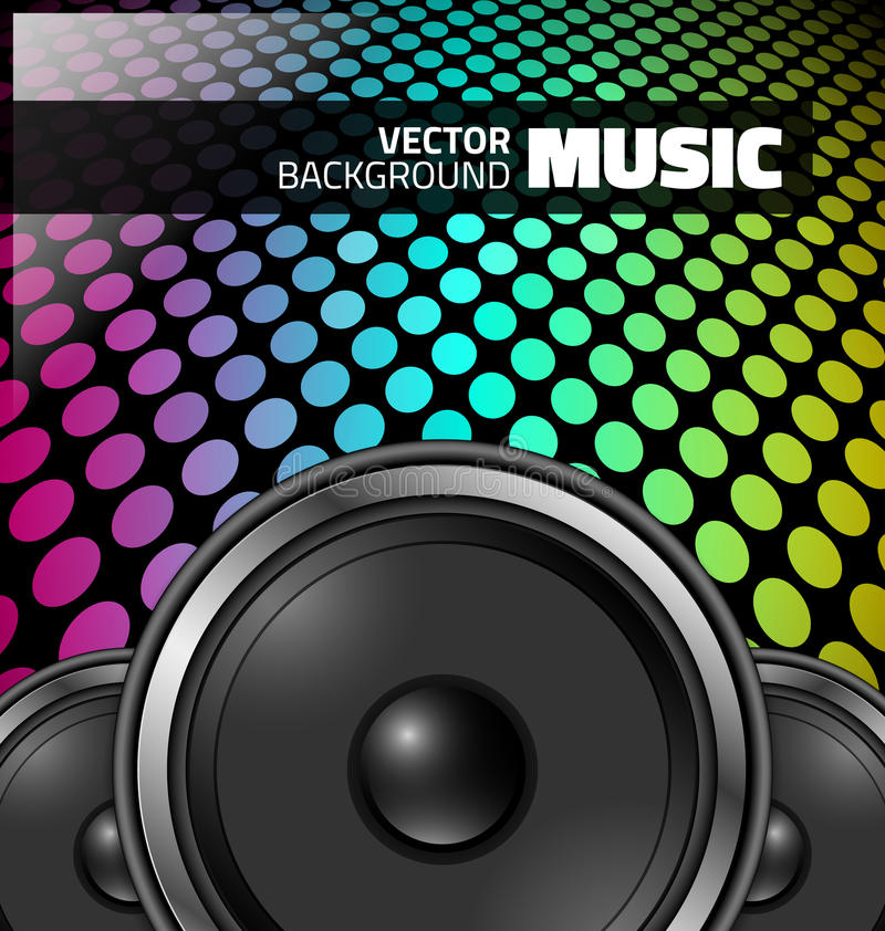 Vector music design - colorful night party stock illustration