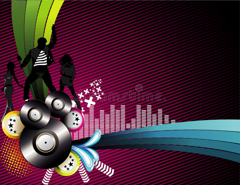 Vector Music Illustration Stock Photography
