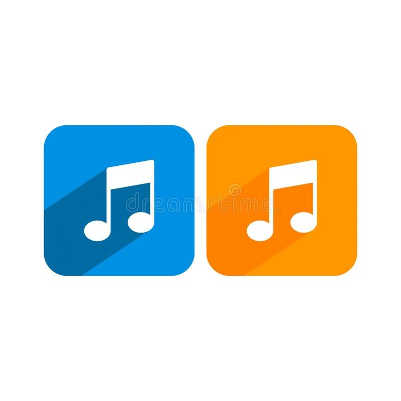 Vector music note icon 8 royalty free illustration