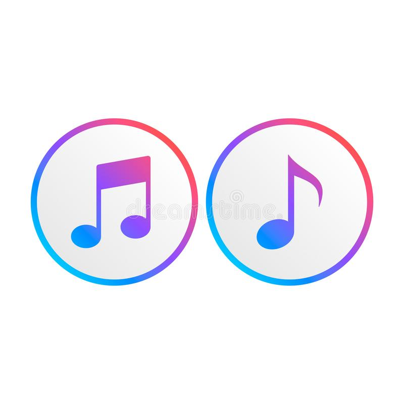 Vector music note icon 9 vector illustration