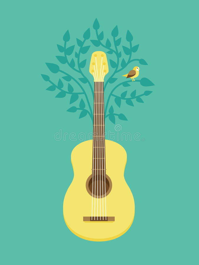 Vector music poster in flat retro style vector illustration
