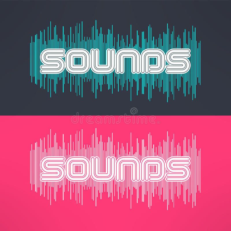 Vector music stylish background with equalizer. Cool tshirt design.  royalty free illustration