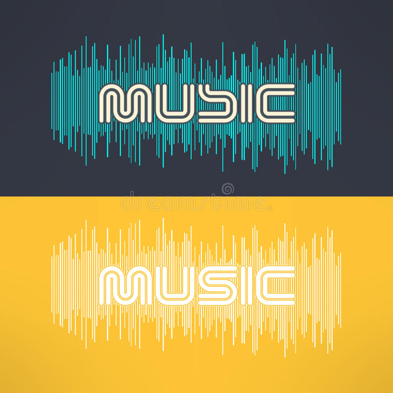 Vector music stylish background with equalizer. Cool tshirt design.  stock illustration