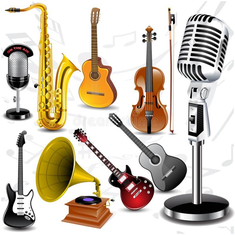 Vector musical instruments vector illustration