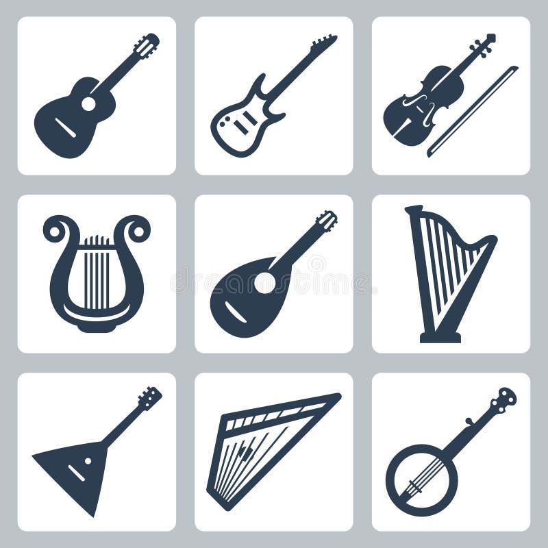 Vector musical instruments: strings vector illustration