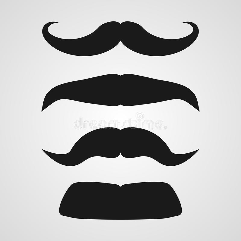Vector mustache set royalty free illustration