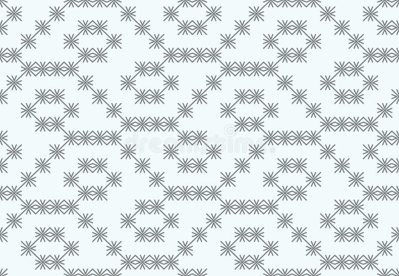 Vector Muster, von den grauen Kreuzen, Sternchen auf einem weißen Hintergrund lizenzfreie abbildung