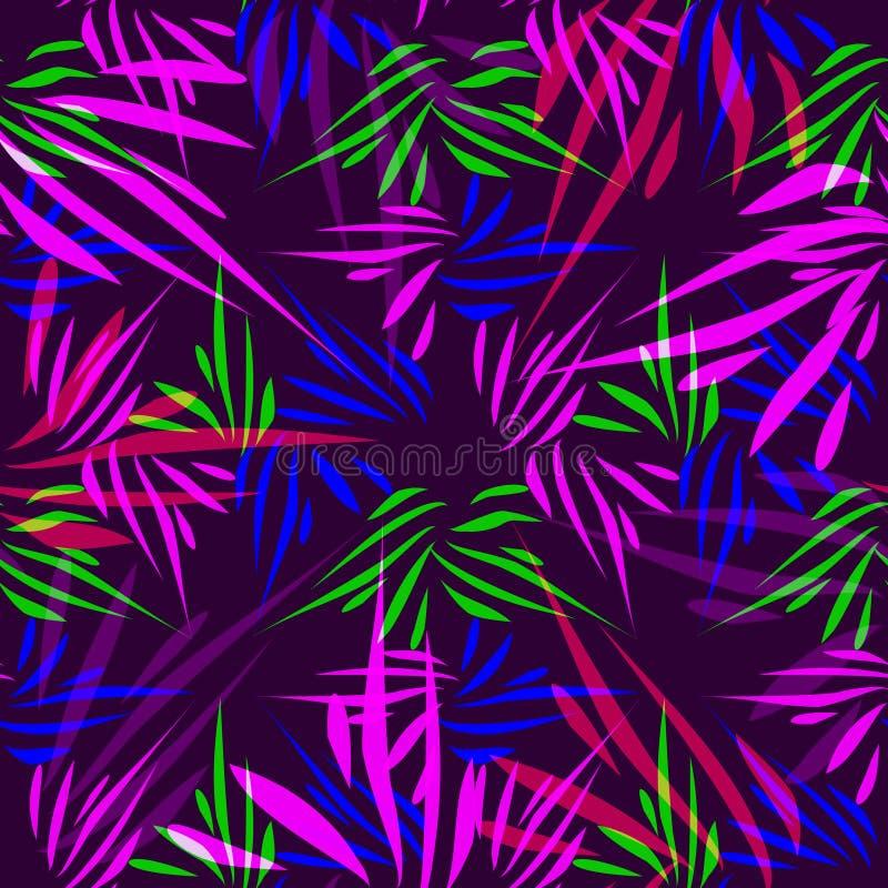 Vector Muster von den purpurroten und blauen Linien auf einem lila Hintergrund stockfotografie