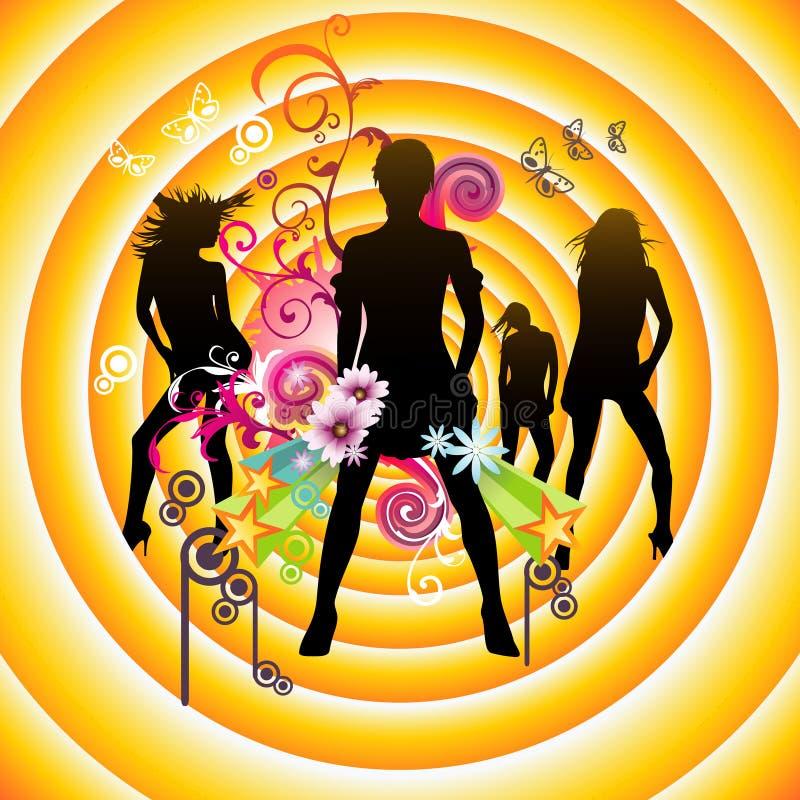 Vector muziekillustratie royalty-vrije illustratie