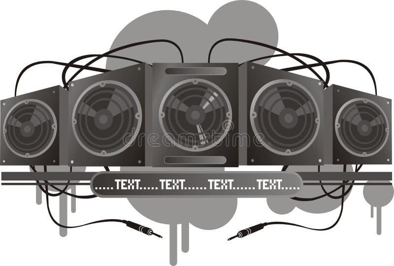 Vector muzieksysteem stock illustratie