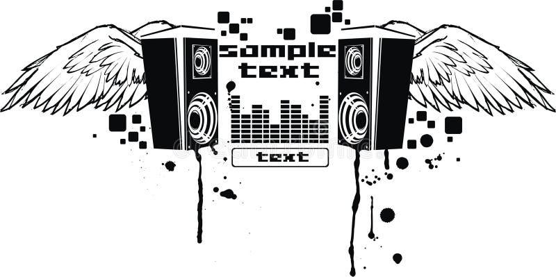Vector muziekvlieg royalty-vrije illustratie