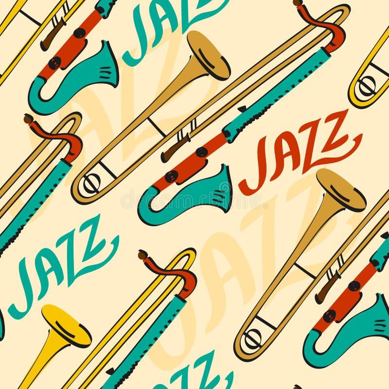 Vector muzikale achtergrond stock illustratie