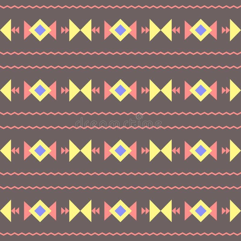 Vector naadloos abstract decoratief etnisch stammenpatroon royalty-vrije illustratie