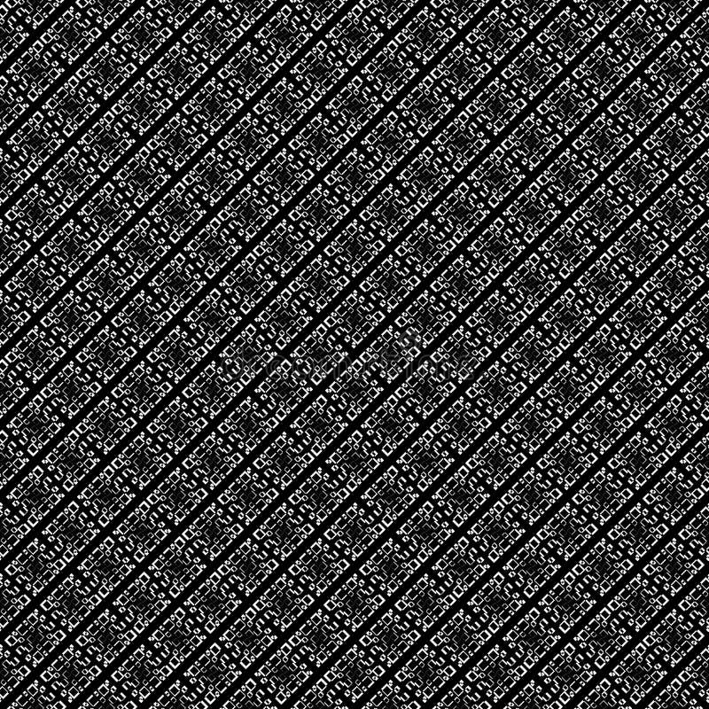Vector naadloos abstract zwart-wit patroon Abstract Behang als achtergrond vector illustratie