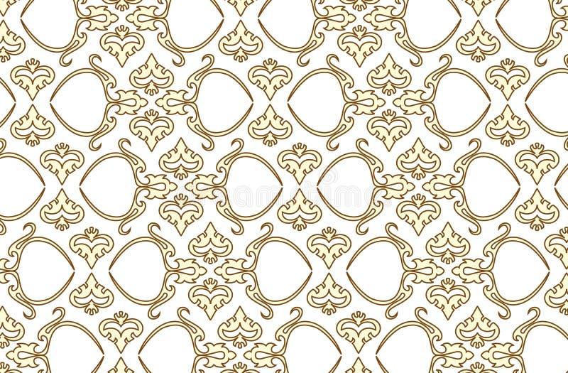 Vector naadloos behang 6 royalty-vrije illustratie