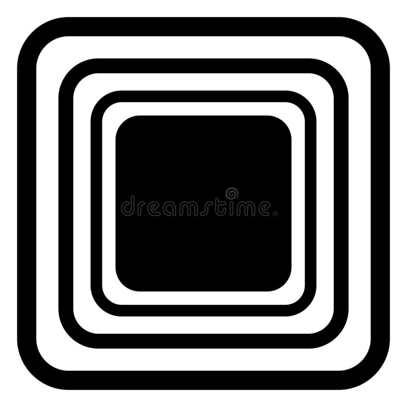 Vector naadloos blauw rond gemaakt rechthoekpatroon eindeloze zwart-witte textuur abstracte geometrische ornamentachtergrond vector illustratie