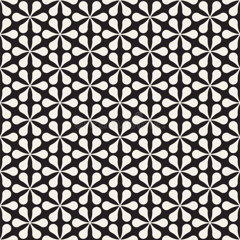 Vector naadloos bloemenmozaïekpatroon Moderne abstracte textuur Het herhalen van geometrische tegels met bloemblaadjeelementen royalty-vrije illustratie