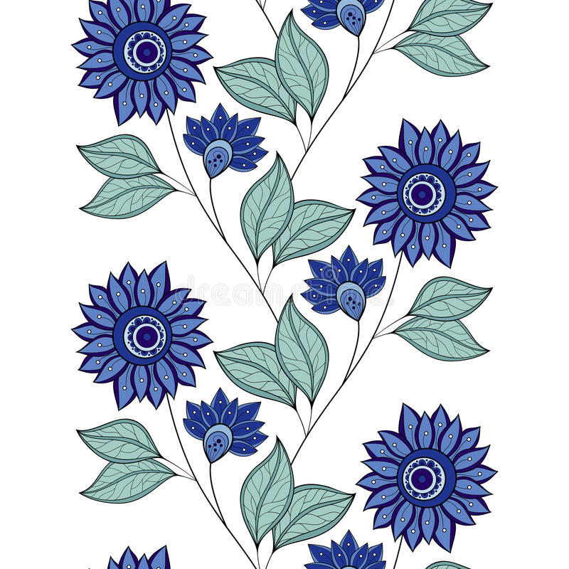 Vector naadloos bloemenpatroon stock illustratie
