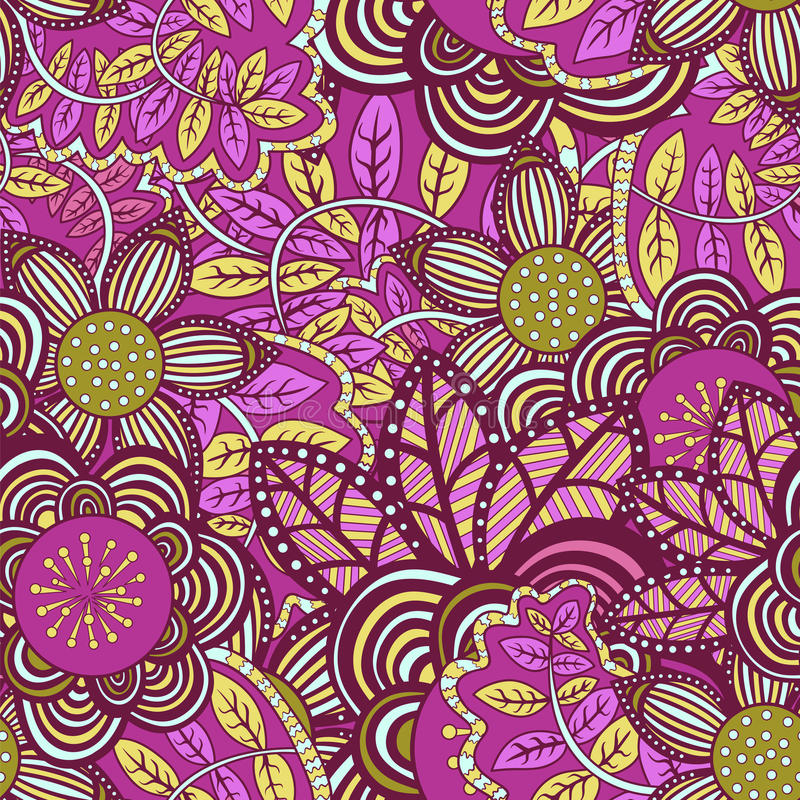 Vector naadloos bloemenpatroon vector illustratie