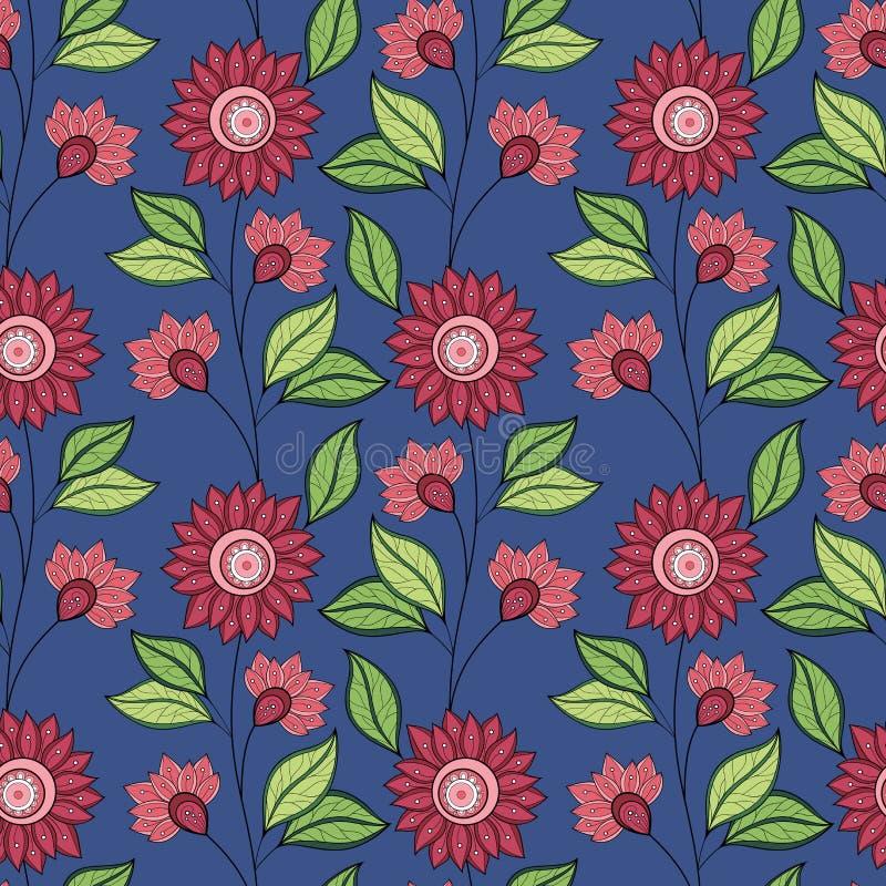 Vector naadloos bloemenpatroon stock illustratie