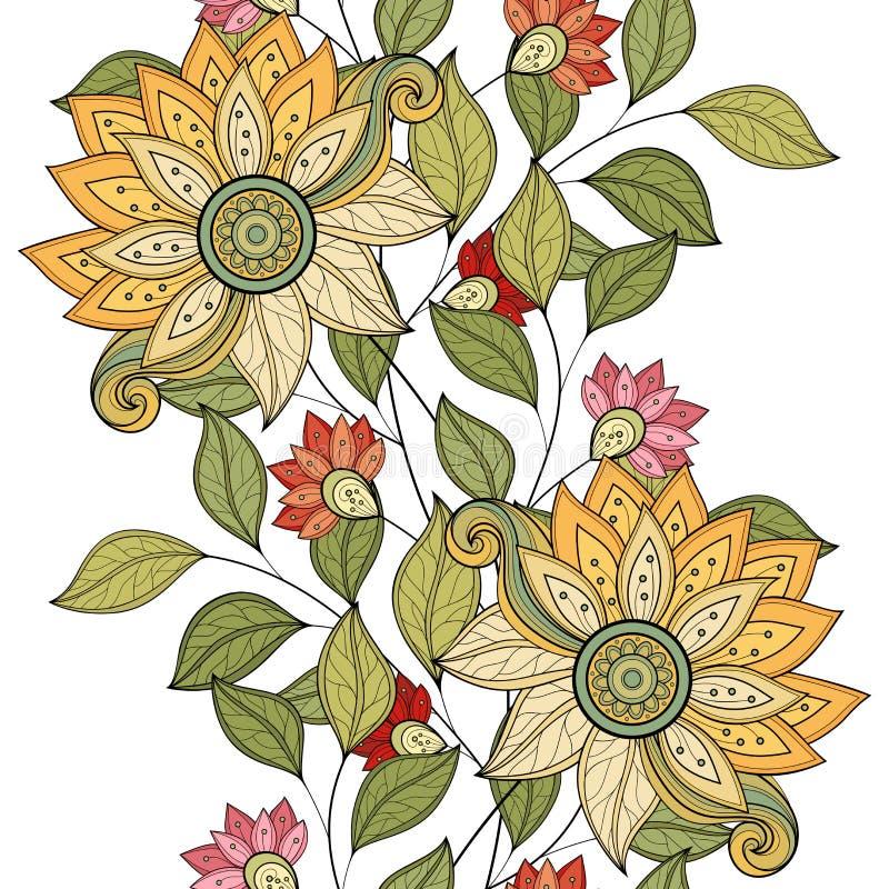 Vector naadloos bloemenpatroon royalty-vrije illustratie
