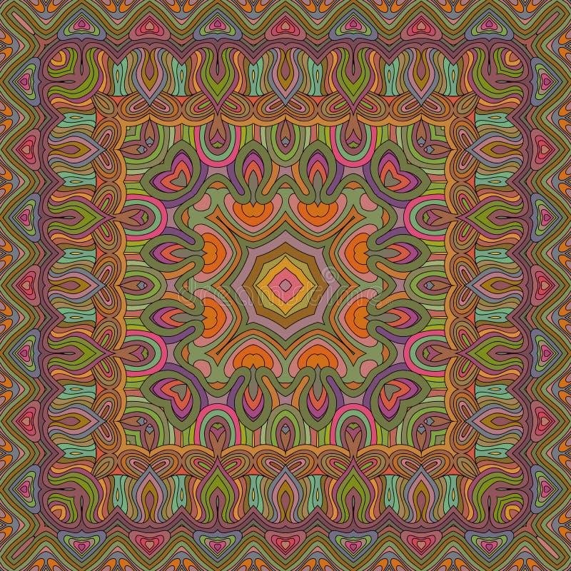 Vector naadloos Boheems ornament Abstracte geometrisch stock illustratie