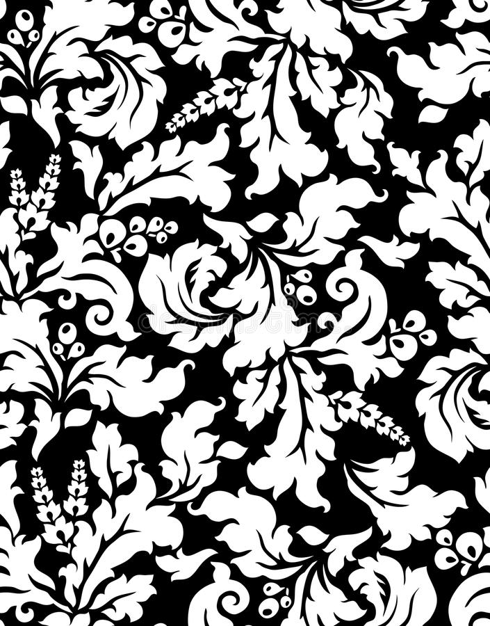 Vector. Naadloos damastpatroon royalty-vrije illustratie