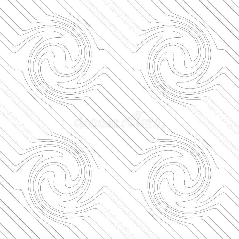 Vector naadloos diagonaal zwart-wit lijnenpatroon Abstract Behang als achtergrond Vector illustratie vector illustratie