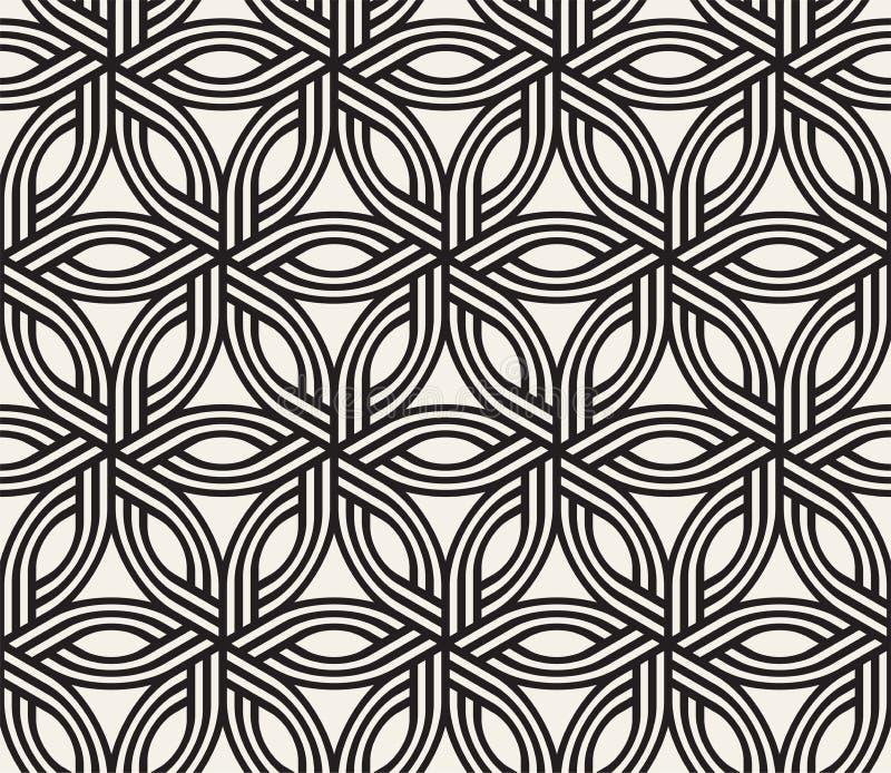 Vector naadloos doorweven patroon Moderne, stijlvolle, abstracte textuur Herhaling van geometrische tegels vector illustratie
