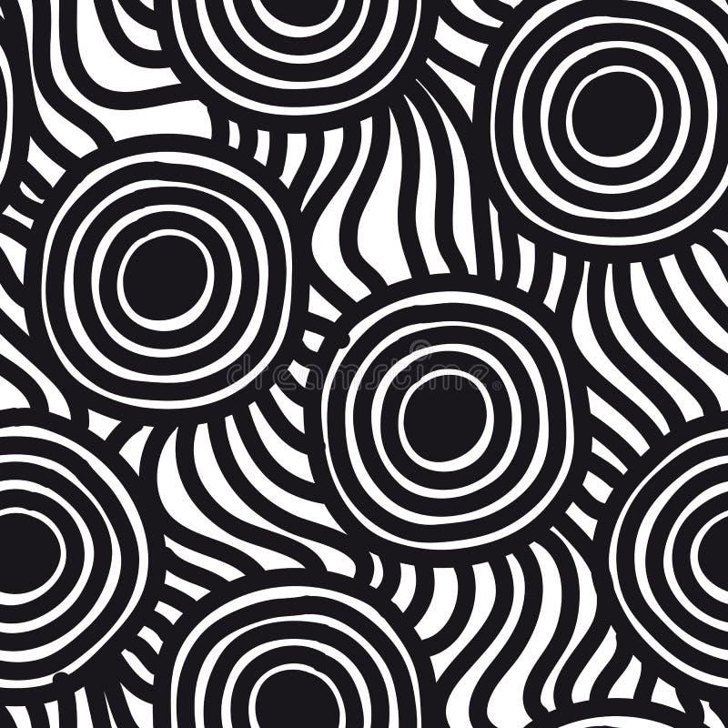 Vector naadloos eenvoudig patroon Het herhalen van samenvatting royalty-vrije illustratie