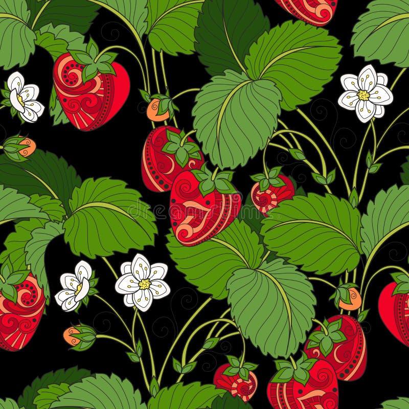 Vector Naadloos Gekleurd Fruitpatroon stock illustratie