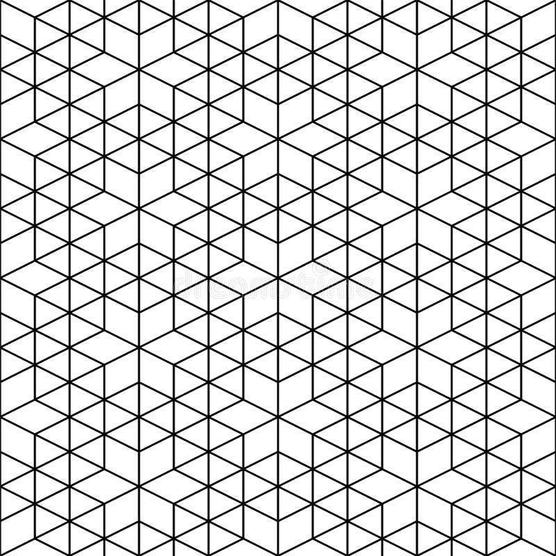 Vector naadloos geometrisch patroon - creatief sierontwerp In lineaire achtergrond Decoratieve cellulaire textuur stock illustratie