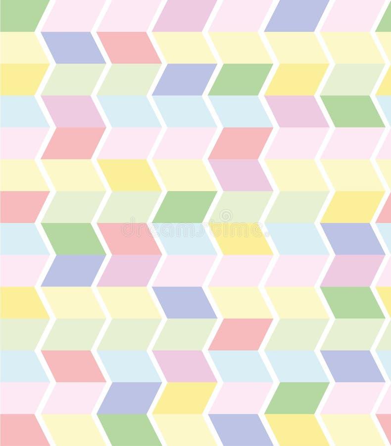 Vector naadloos geometrisch patroon in pastelkleuren royalty-vrije illustratie